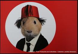 Famous Faces TAKKODA Pets Celebrity Photography Célébrités Animal Photographie Cobaye Chapeau FEZ Guinea Pig Hat COOPER - Animaux Habillés