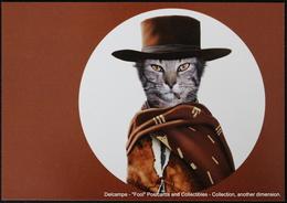 Famous Faces TAKKODA Pets Celebrity Photography Célébrités Animal Photographie Chat CLINT EASTWOOD Cat WESTERN - Animaux Habillés