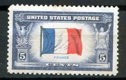 """TIMBRE USA """"DRAPEAU FRANCAIS"""", Charnière - Vereinigte Staaten"""