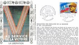 FRANCE - FDC AU SERVICE DE LA VICTOIRE OBLITERATION 50E ANNIVERSAIRE DE LA LIBERATION LA ROCHELLE 08.05.95 - WW2