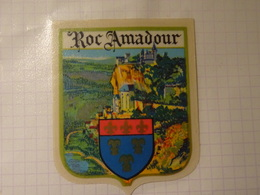 Blason écusson Adhésif Autocollant Rocamadour (Lot)) Aufkleber Wappen Coat Of Arms Sticker Adesivo Adhesivo - Oggetti 'Ricordo Di'