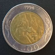 SAINT MARIN - SAN MARINO - 500 LIRE 1994 - Tailleur De Pierre - KM 314 - Saint-Marin