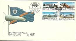 Bophuthatswana 1986 Mi 177-180 FDC ( FDC ZS6 BOP177-180 ) - Voitures