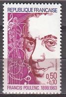 France 1974 Francis Poulenc  Michel 1862 MNH 26125 - Music