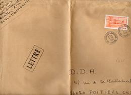 France Poste Aérienne N° 58 Y.et T. Sur Lettre Cachet Type A9 Vienne Availles Limouzine Du 03/02/1988 - 1960-.... Cartas