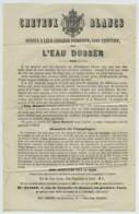 Publicité Pour L'Eau Dusser (1 Rue De Grenelle) Contre Les Cheveux Blancs . Coiffure . Cosmétiques . - France