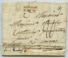Marque Schwerin 3 Juni 11 / LàC 1811 Pour Pernes (Vaucluse) Par Hambourg Et Avignon . - 1801-1848: Precursors XIX