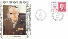 FRANCE - FDC GNL BRADLEY OBLITERATION 50E ANNIVERSAIRE DE LA LIBERATION 29.08.94 VITRY LE FRANCOIS - WW2