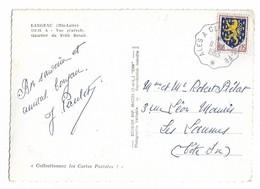Ambulant Ferroviaire ALES A CLERMONT Fd Sur Carte LANGEAC - Railway Post