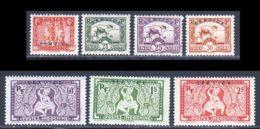 Indochine Service 1933 Yvert 6 - 10 / 12 - 14 / 16 * TB Charniere(s) - Ohne Zuordnung