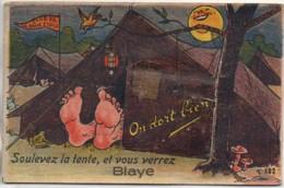33 BLAYE Carte Système (Gaby N°102) Soulevez La Tente , Et Vous Verrez - Blaye