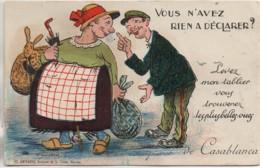 Maroc  CASABLANCA Carte Système  ( Artaud)Vous N'avez Rie à Déclarer - Casablanca
