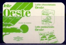 1987 Pocket Calendar Calandrier Calendario Portugal Leite Milk Lecje Lait Leite Oeste - Calendars