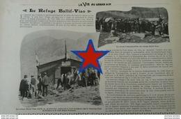 1902 LE REFUGE BALLIF VISO - TOURING CLUB DE FRACE - CLUB ALPINS FRANÇAIS - LA VIE AU GRAND AIR - Books, Magazines, Comics