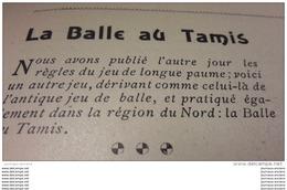 1902 BALLE AU TAMIS - ANZIN - JOUTES LYONNAISES - LE GALIBIER EN AUTO - CHEZ LE VETERINAIRE CHAPARD - NAGEUR ANGLAIS - Newspapers