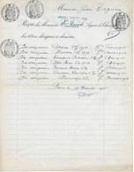 Fiscaux :  Papier Timbré Reçu D'obligations Du 19/12/1955 Avec 4 Timbres à L'extraordinaire (3,50-1,50-1 Et 2 Frs) - Fiscaux