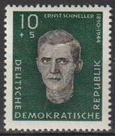 Repubblica Democratica Tedesca (DDR) 1960 - Ernst Schneller - Mint - [6] Democratic Republic
