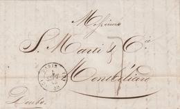 Frankreich / 1844 / Vorphila-Brief K2 PARIS, Rs. K2 MONTBELIARD (AL26) - Postmark Collection (Covers)