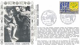 FRANCE - FDC  VICTOIRE PAIX LIBERTE OBLITERATION 50E ANNIVERSAIRE DE LA LIBERATION DES CAMPS 29.04.95 BELFORT - WW2