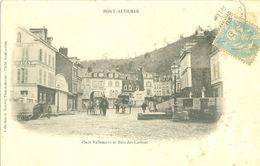 (27) Pont-Audemer : Place Vallemont Et Bois Des Carmes (animée) (dos Non Divisé) - Pont Audemer