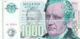 MUJAND REPUBLIC 1000 ZILCHY 2013 PRIVATE ISSUE - Andere