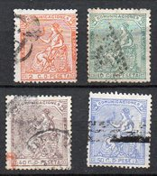 1874 Spagna Giustizia N. 141 143 146 147 Unificato Timbrati Used - 1873-74 Regentschaft
