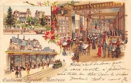 1901 Confiserie ZÜRCHER à MONTREUX( SUISSE) Belle Lithographie. 2 SCANS - Suisse