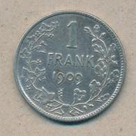 België/Belgique 1 Fr Leopold II 1909 Vl Morin 201a (12038) - 1865-1909: Leopoldo II