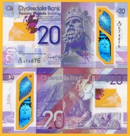 Scotland 20 Pounds P-new 2020 Clydesdale Bank UNC Polymer Banknote - [ 3] Scotland