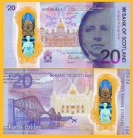 Scotland 20 Pounds P-new 2020 Bank Of Scotland UNC Polymer Banknote - [ 3] Scotland