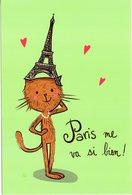 FRANCE CPM  De Alice PELAUDEX TOUR EIFFEL Et Chat ... - Illustrateurs & Photographes