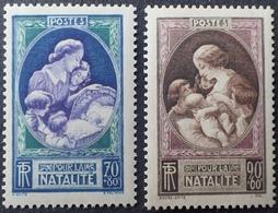 R1513/124 - 1939 - EN FAVEUR DE LA NATALITE - N°440 à 441 NEUFS** - Ungebraucht