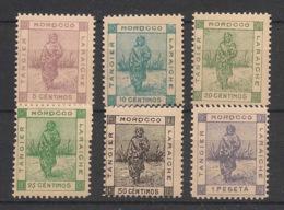 Maroc - 1898 - Tanger à Larache - N°Yv. 128 à 133 - Série Complète - Neuf Luxe ** / MNH / Postfrisch - Postes Locales & Chérifiennes