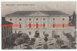 BELLUNO - ISTITUTO SALESIANO SPERTI F/PICCOLO VIAGGIATA 1927 ANIMATA - Belluno