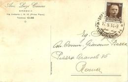 """6806"""" AVV. LUIGI CARRARA-BRESCIA """"-CARTOLINA POSTALE SPED.1934 - Non Classificati"""