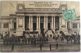 V 72640 - Roma - Esposizioni Roma 1911- Ingresso Centrale Del Padiglione Di Belle Arti Inaugurato Da Sua Maestà - Expositions