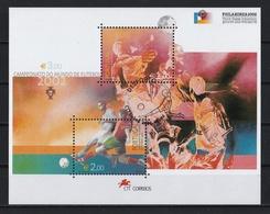 Portugal 2002 : Bloc Feuillet N° 183 Oblitération 1er Jour : Coupe Du Monde De Football 2002. - Blocks & Kleinbögen