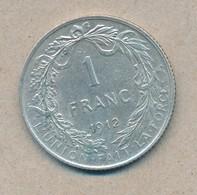 België/Belgique 1 Fr Albert1 1912 Fr Morin 292 (120312) - 07. 1 Franc