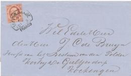 Nederland - 1859 - 10 Cent Willem III, 1e Emissie Op Omslag Van 'sGravenhage Naar Kockengen - 1852-1890 (Guillaume III)