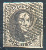 N°3 - Médaillon10 Centimes Brun, Margé Et Voisin, Obl. P.119 TONGRES Bien Nette. TB - 15311 - 1849-1850 Médaillons (3/5)