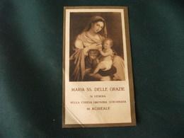 SANTINO HOLY PICTURE IMAGE SAINTE MARIA SS. DELLE GRAZIE SI VENERA NELLA CHIESA OMONIMA SUBURBANA IN ACIREALE - Religión & Esoterismo