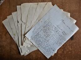 9  Lettres - Factures : Léon Lemaitre à Bolbec (76) - 1876, Avec Adresses, Cachets Et Timbres Au Dos - 1800 – 1899