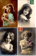 CPA - Lot De 4 - Filles - écrites - PRIX NET : 4 Euros ( Pas De Frais D'envoi , Ni De Gestion ) - Portraits