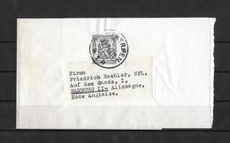1948 BELGIUM → Stripes (Streifbänder Für Zeitungen) Antwerpen To Hamburg - Stamped Stationery