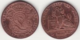 LOT N° 013   BELGIQUE LEOPOLD  Ier  PIECE DE 5 CENTIMES GRAND MODULE  ANNEE 1847 BRAEMT F. - 1831-1865: Leopold I