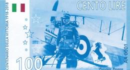 ITALIA 100 LIRE 2018 CENTENARIO DELLA VITTORIA 1918-2018 PRIVATE ISSUE - Andere