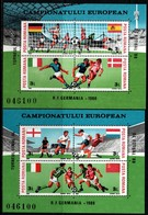 Romania 1988, Scott 3523A-3523B, MNH Sheet, Eurppean Soccer Germany - Nuovi