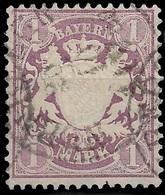 1874 BAYERN - 1M. Mi.Nr 31a GESTEMPELT. Kat. 70€ - Bayern