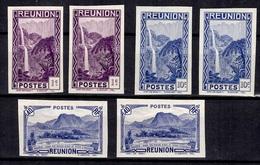 Réunion Maury N° 127 (2), N° 131 (2) Et N° 136 (2) Non Dentelés Neufs ** MNH. TB. A Saisir! - Réunion (1852-1975)