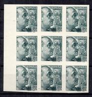 Espagne Timbre Franco En Bloc De 9 Timbres Non Dentelés Neufs ** MNH. TB. A Saisir! - 1931-Aujourd'hui: II. République - ....Juan Carlos I